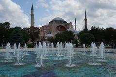 Hagia Sophia,Istanbul (Goran Joka) Tags: monument water museum architecture turkey istanbul waterfountain hagiasofia