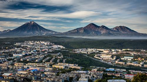 Petropavlovsk-Kamchatsky and its Volcanoes ©  kuhnmi