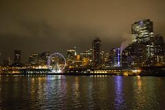 Night lights (Getting Better Shots) Tags: seattle wheel ferris
