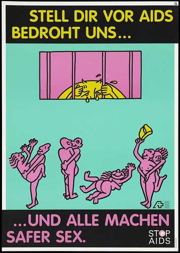 Advertisement for safe sex by the AIDS-Hilfe Schweiz Wellcome L0053826