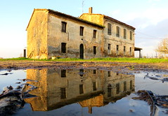 IMG_0014x (gzammarchi) Tags: casa italia natura explore campagna paesaggio sanmarco ravenna riflesso pianura cascina pozzanghera