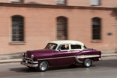 It's purple! (hectordotlee) Tags: travel urban classic canon classiccar outdoor cuba scenic tourist panning attraction lahabana 500d canon500d classicamericancar