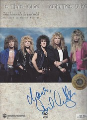 Whitesnake - David Coverdale - Autographed Sheet Music - Is This Love (Joe Merchant) Tags: music david love this is sheet whitesnake autographed coverdale
