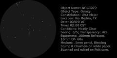 NGC3079 (John SA-TX) Tags: major sketch galaxy astronomy ursa ngc3079