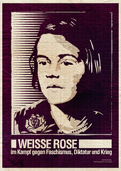 Sophie Scholl Plakat (seven_resist) Tags: white rose poster rebel store sophie shirts disorder plakate plakat resistance nationalsozialismus scholl geschwister widerstand antifa weisse linke antifaschismus