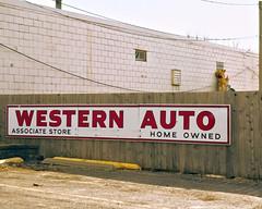 Eastern Manual (Pete Zarria) Tags: auto sign retail store iowa wester raodside