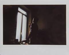 Nirvana (lu) Tags: light boy window silhouette nude polaroid daylight smoking sundaymorning pola decristo