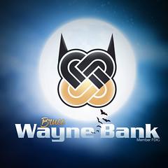 Wayne Bank Batman Logo for Facebook (Justin Roach Work Stuff) Tags: advertising design graphicdesign bank batman scranton nepa brucewayne honesdale 570 waynebank