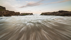 Rock Pool (Eduardo_il_Magnifico) Tags: ocean sunset sea sky colour beach water swim flow rocks waves tripod australia wideangle nsw newsouthwales swimminghole rockpool crowdybaynationalpark samyang14mm nikond750