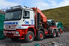 CHISHOLM'S RECOVERY SPECIALISTS MERCEDES ACTROS 8X8 500 V8 SN04 XLT (denzil31) Tags: truck pull mercedes wind farm transport 500 v8 recovery bmt specialists xlt 8x8 stgo palfinger enercon heavyhaulage westofscotland chisholms ainscoughcranehire windfarmconstruction mammeot sn04 corriegarth jamesjackliftingservices