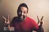 Crazy winner (Juan Carlos Calvente) Tags: portrait man smile canon happy crazy loco victoria victory sonrisa tamron hombre joven 6d profoto contento