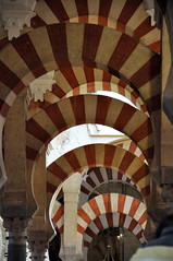 Double arches (parismargherita) Tags: red white spain cathedral columns arches mosque double mezquita