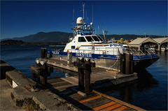 "PV ""Inkster"" Docked in Port Alberni (RiverBearPhoto) Tags: canada vancouver port island boat photo dock marine royal police vessel columbia canadian jackson leon mounted catamaran british rcmp patrol inkster albertini riverbear"