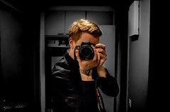 Photographer (Jani Mkel) Tags: portrait bw white black reflection me canon finland myself photography eos mirror photo photographer apartment photoshoot indoor crop inside finnish amateur 700d