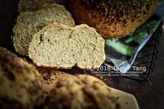 Homemade Seeded Bread (TailorTang) Tags: stilllife food bread 50mm baking seeds homemade sunflowerseed 5014 foodphotography pumpkinseed flaxseed hempseed chiaseed