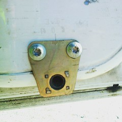 Shocked door catch on a Mercedes... (nathanrobinson2) Tags: door mercedes funny faces shocked sprinter uploaded:by=flickstagram instagram:photo=985308806502417093184137303