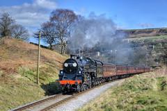 75078. Approaching Oakworth .. (Alan Burkwood) Tags: br loop head yorkshire steam locomotive codes kwvr oakworth damems 75078 standardclass4mt