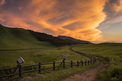 散歩道 (Onejoshuatree) Tags: sunset west japan landscape 日本 nara 風景 soni 奈良 夕焼け homesickness 郷愁 西日本 曽爾 曽爾高原 sonikougen