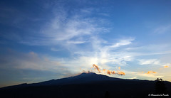 Mt. ETNA @ sunset... (Alessandro Lo Piccolo Hollweger) Tags: sunset sky clouds landscape volcano sicily etna fiumefreddo