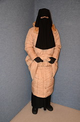 Two warm coats (Buses,Trains and Fetish) Tags: hot girl warm coat hijab torture sweat niqab anorak slave burka chador