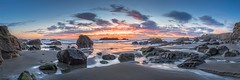 Sea Ranch Ohlson Beach Panoramic (Paul Kozal) Tags: sunset sea seascape scenery surf s searanch slowshutter sonomacounty