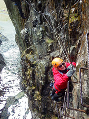 Honister_Via Ferrata (18 of 73) (Kevin John Hughes) Tags: bridge england lake snow mountains net landscape scary burma rope cargo climbing pike keswick buttermere honister dostrict fleetwith mountineering