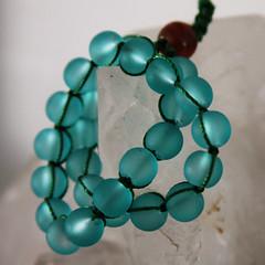 mala beads (cowardlydandelion) Tags: blue water beads crystal witch jewelry bracelet hippie boho hindu hinduism quartz mala bohemian newage japa