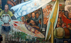 Rivera, Man Controller of the Universe, detail with Lenin