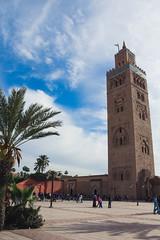Minarete de la Koutoubia (valentinasota) Tags: morocco maroc marrakesh marruecos koutoubia minarete