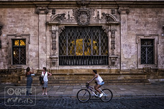 (garfie76) Tags: city people colors bike 35mm spain women citylife streetphotography naturallight espana palma spagna