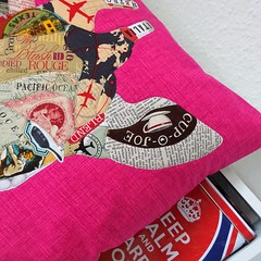 152_Josephine (PiecedByPeace) Tags: pink english collage modern germany deutschland colorful quilt handmade pillow fabric quilting quilted giraffe colourful quilts patchwork quilter fabricart modernquilt colorfulquilt colourfulquilt quiltingindeutschland piecedbypeace quiltsingermany quilteringermany
