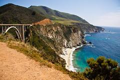 Bixby Creek Bridge (++sepp++) Tags: ocean california bridge sea usa water landscape coast highway meer wasser pacific sunny highway1 carmel brcke sonnig landschaft kste pazifik ozean vereinigtestaaten strase platinumheartaward