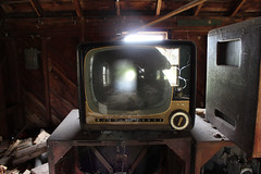 See-thru TV (plasticfootball) Tags: abandoned television rural tv missouri westinghouse urbex 4011house