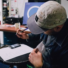 setlistje pennen bij velvet delft. fototje van @tdtzl #rsd16 #musicisart #rocken