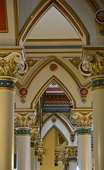 Ornate (pjpink) Tags: city urban virginia spring downtown interior painted arches richmond april ornate rva oldcityhall gothicrevival 2016 pjpink