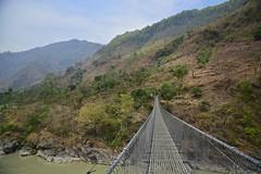Tibetan bridge in Nepal (Antonio Cinotti ) Tags: bridge nepal nikon asia d7100 tibetanbridge nikon1685 nikond7100 nepalroutes