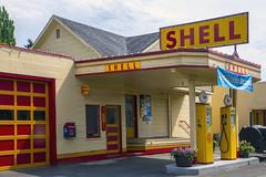 Vintage Shell Station Issaquah WA (Don Thoreby) Tags: usa vintage memories pacificnorthwest storefronts olddays yesteryear earlydays seattlewashington shellgasstation