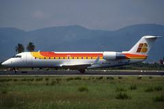 Untitled (Air Nostrum) CRJ-200ER EC-HEK BCN 02/08/1999 (jordi757) Tags: barcelona nikon airplanes bcn kodachrome f90x kodachrome64 avions bombardier canadair elprat airnostrum crj200 lebl echek