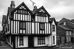 Ye Olde Edgar, 112/366 (crezzy1976) Tags: old uk blackandwhite building history architecture nikon cheshire chester photoaday 365 day112 yeoldeedgar d3100 crezzy1976 photographybyneilcresswell 366challenge2016