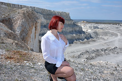 DCS_9864 (dmitriy1968) Tags: portrait cliff nature girl beautiful erotic outdoor wife quarry    sexsual