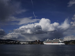 Clouds over Oslo (Pivi ) Tags: sea oslo norway clouds cruiseship fjord