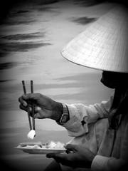 sticks (dsotg) Tags: 2005 bw food sticks asia vietnam hoian chopsticks streetfood