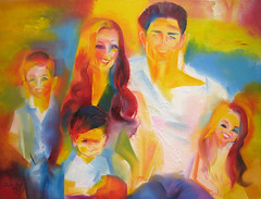 The Reeves Family.  2015 by Stephen B. Whatley (Stephen B. Whatley) Tags: california family light boy woman usa man male london art love boys girl beauty smiling lady painting children hope parents michael glamour pretty sara child time brothers sister contemporaryart modernart smiles warmth handsome happiness hunk exhibit newyear buckinghampalace bbc surprise expressionism publicart groupportrait familyportrait toweroflondon oilpainting christmasday happynewyear thequeen timemagazine queenelizabethii londontransportmuseum blueribbonwinner whatley towerhillstation michaelreeves abigfave sarareeves royalcollection colourartaward stephenbwhatley theroyalcollection bbcheritage artofimages artiststephenbwhatley stephenwhatley toweroflondonpaintings artiststephenwhatley newyear2016 saramichaelreeves thereevesfamily