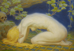 Marie Madeleine, 1927 (STORMZORN) Tags: maiden madchen mortsqueletteskeletonfemmedame fillejeunewomannakedmementomorinuenude erosthanatosdansemacabrecadavercadavreznortcraneskull muertechica todtott tanzdellamorte