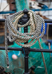 Harbour Rope - Weymouth - Macro Lens (dorsetpeach) Tags: winter england macro boat harbour rope dorset fishingboat weymouth weymouthharbour oldharbour