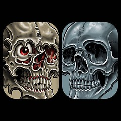 Project I'm working on #skulls #pooch #art