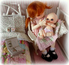 Who knew hands could be so fascinating!  ; ) (TutuBella) Tags: baby love doll quiet bisou quilts soom fairyland popo littlefee nappychoo booksbybimbabambolina bundlebabiesbyshell~elfinhugs