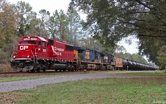 CSX K479 ethanol train for FEC with one of those whose railroad is this if you didn't know any better moments about to cross over the NS diamond which is right behind me in this picture in Crawford, FL. (MrRailfan) Tags: florida ns rr fl cp ge crawford csx ethanol emd k479