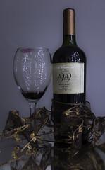 Finished= Julia Thomas Day 9 (Project...365) Tags: wine finished wineglass bottleofwine malbec endofday drearyday haveadrink waitingforthesnow