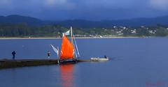 Velero (cazador2013) Tags: espaa costa canon mar spain agua paisaje viento cielo embarcadero turismo aire velero airelibre cantabrico serenidad ef2470 60d
